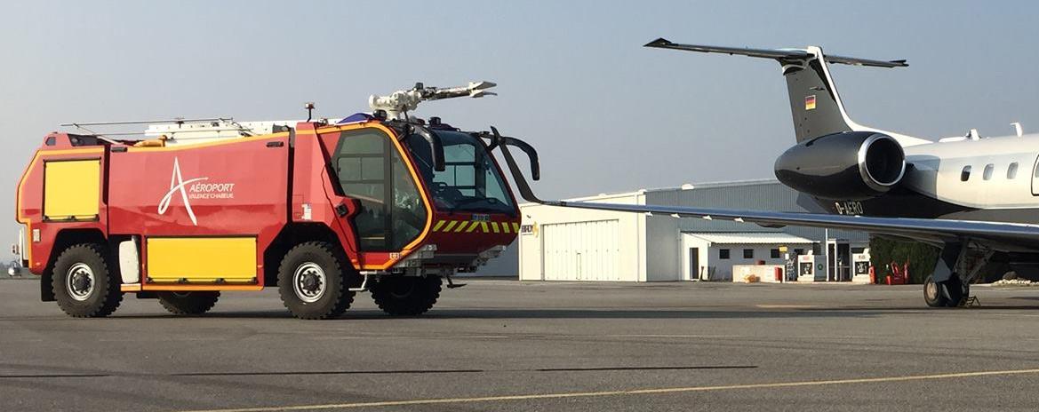 Véhicule incendie à l'aéroport Valence - Chabeuil